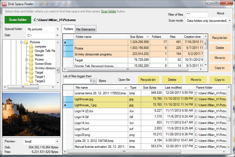 UtilStudio Disk Space Finder Screen shot